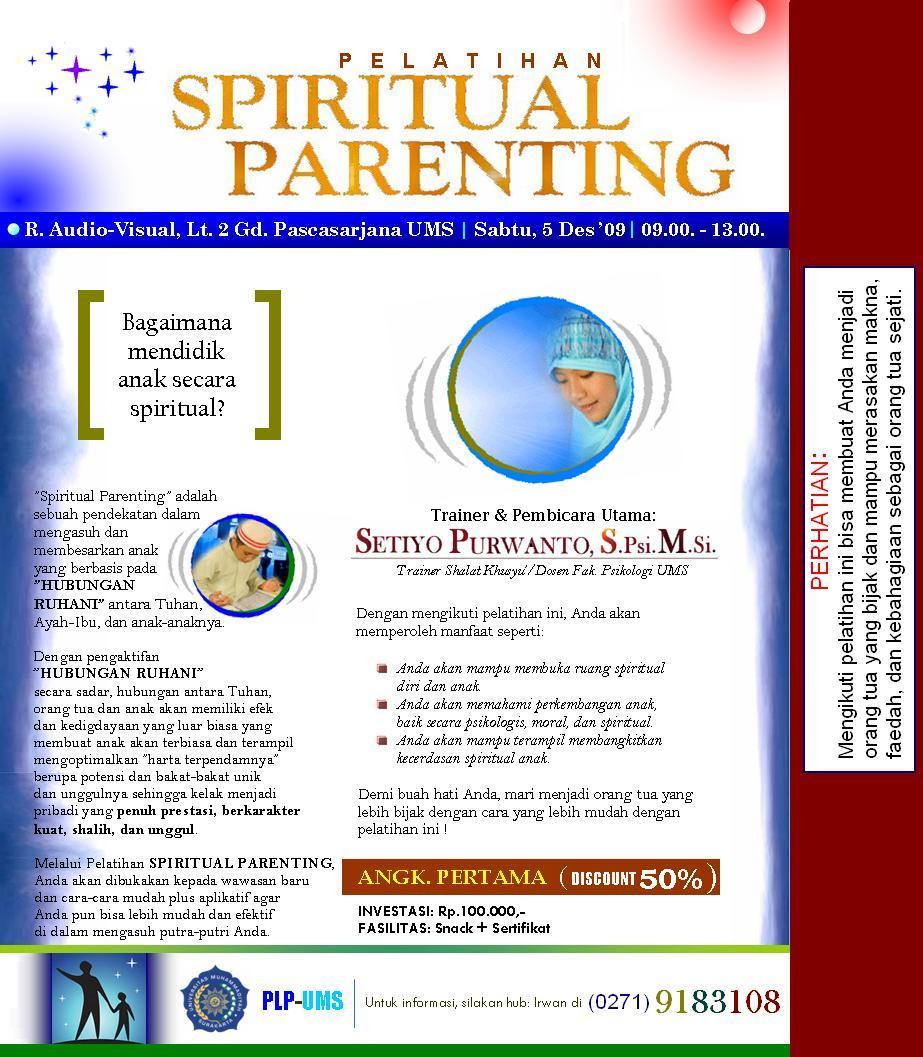 MENDIDIK DENGAN KEKUATAN SPIRITUAL