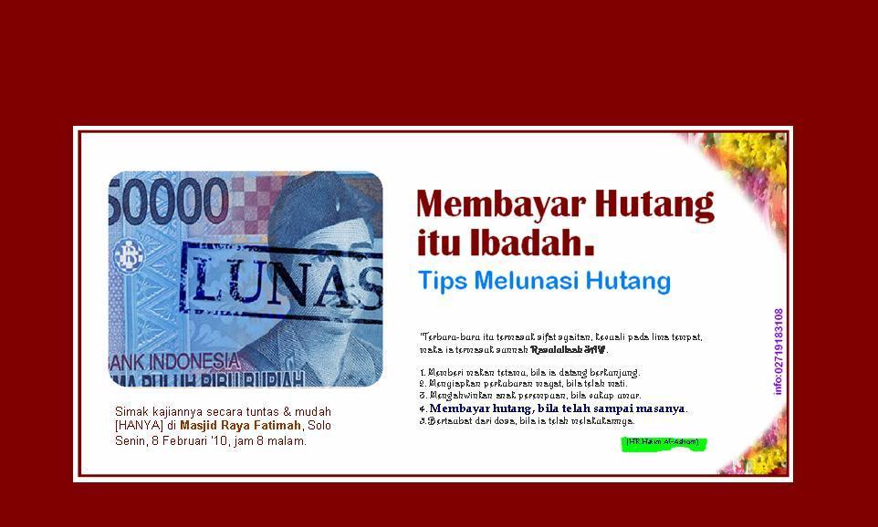 HUTANG INDONESIA BISA LUNAS JIKA AGAN2 PATUNGAN Rp 9 JUTA, MAU ...